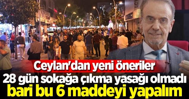 Prof. Mehmet Ceyhan sokağa çıkma yasağı istedi