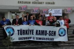 Erzurum'da memur eylemi vardı!