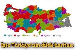 İşte Türkiye'nin dilek haritası