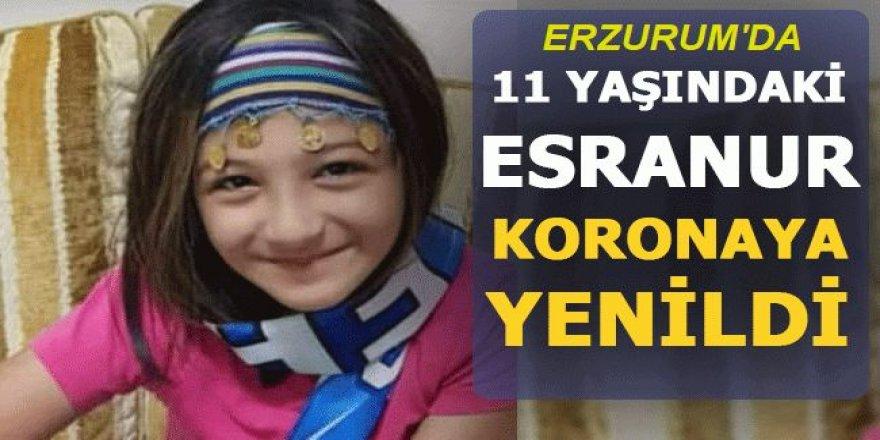 Erzurum'da 11 yaşındaki Esranur koronaya yenildi