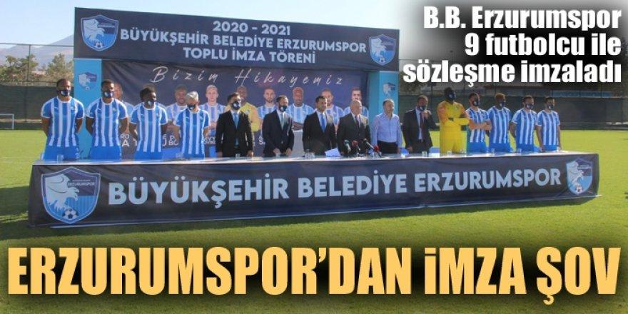 Erzurumspor'dan imza şov