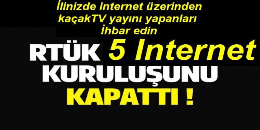 RTÜK; internet üzerinden kaçak yayınları kapatıyor