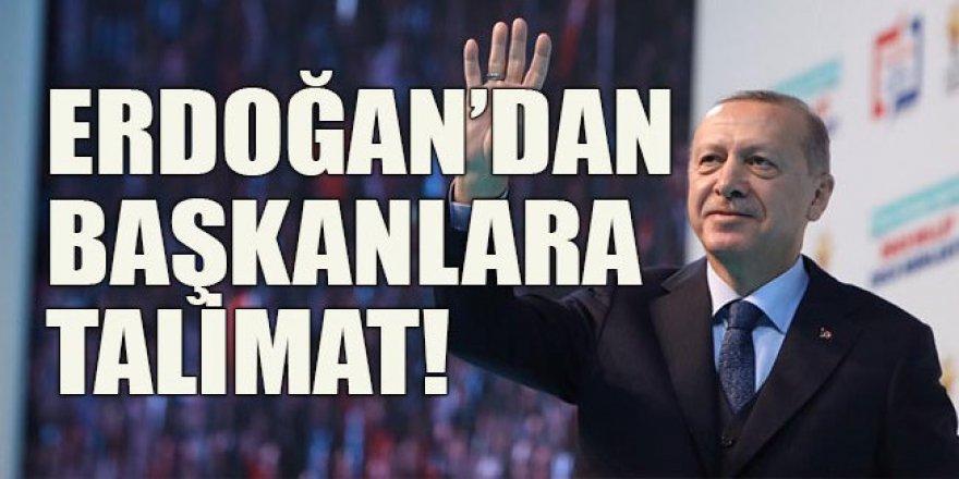 Erdoğan'dan il başkanlarına talimat