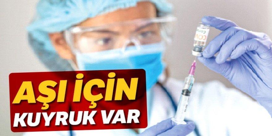 Aşı çalışmasına yoğun ilgi