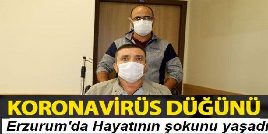 Erzurum'a düğüne giden 49 yaşındaki adam koronavirüse yakalandı