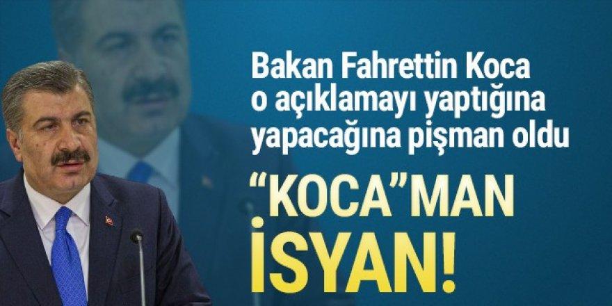 Sağlık Bakanı Koca'nın açıklamaları isyan ettirdi!