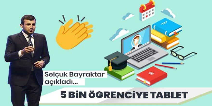 Selçuk Bayraktar açıkladı: BAYKAR olarak 5 bin öğrenciye tablet bilgisayar hediye edeceğiz
