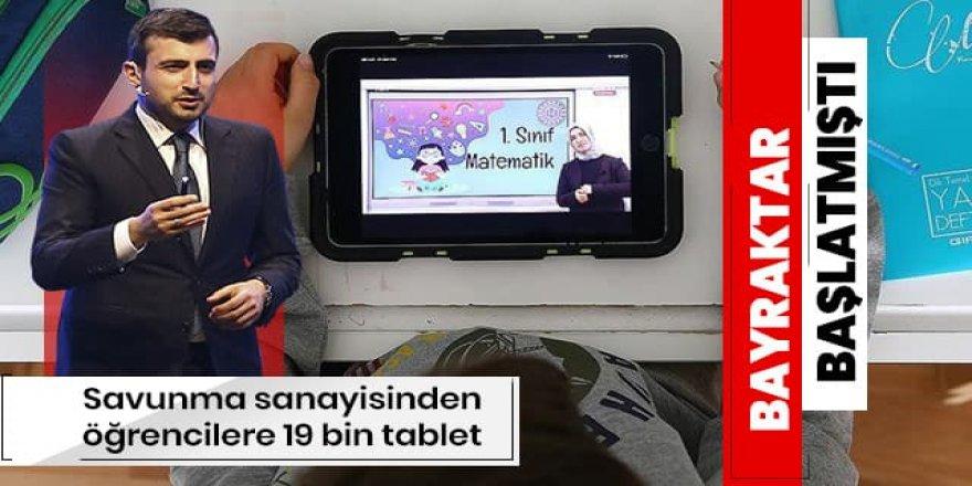 Savunma sanayisinden öğrencilere uzaktan eğitim için 19 bin tablet