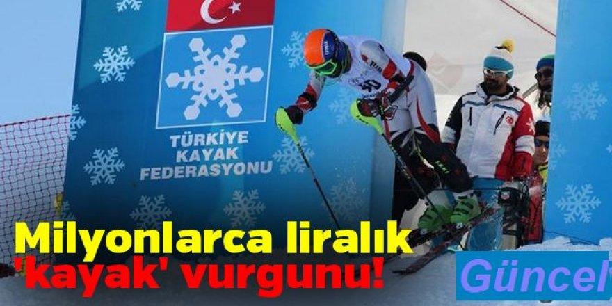 Bakanlığın açtığı ihaleyi alan firma, malzemeleri Kayak Federasyonu deposundan karşılamış…