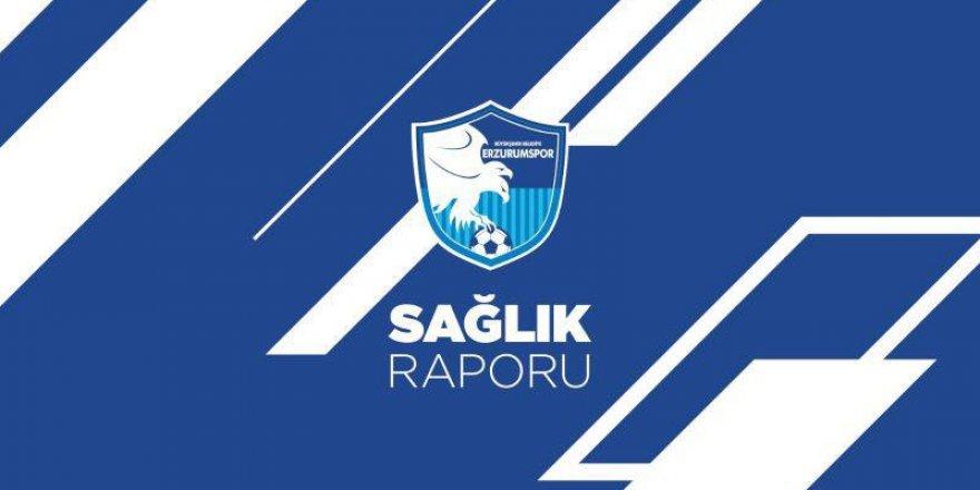 Erzurumspor'dan sakat futbolcuların durumu hakkında bilgilendirme