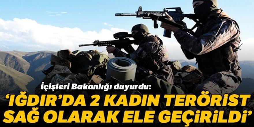 Jandarmanın sıkı takibi sonucu Iğdır'da 2 terörist sağ ele geçirildi