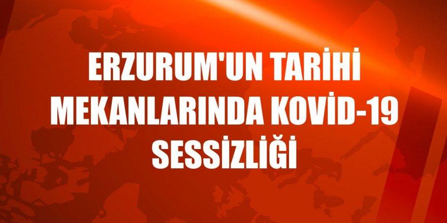 Erzurum'un tarihi mekanlarında Kovid-19 sessizliği
