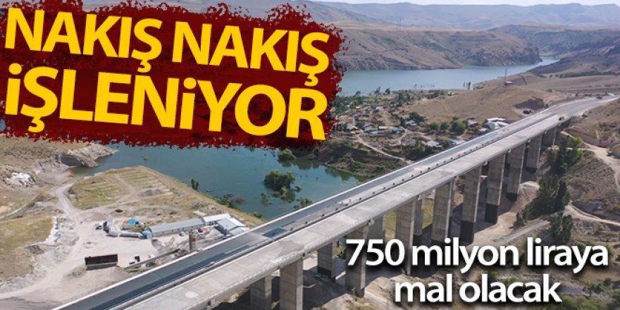 750 milyon liralık Sarıkamış-Horasan yolu nakış gibi işleniyor