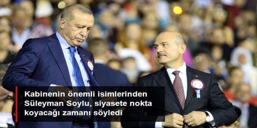 Soylu: Tayyip Erdoğan'dan sonra siyaset yapmayacağım