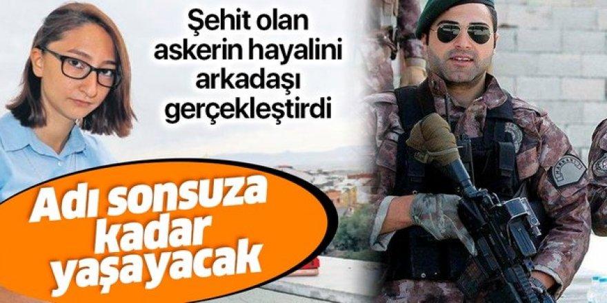 Şehit Özel Harekâtçı Muhammet Dündar'ın kütüphane kurma hayalini Erzurumlu arkadaşı gerçekleştirdi