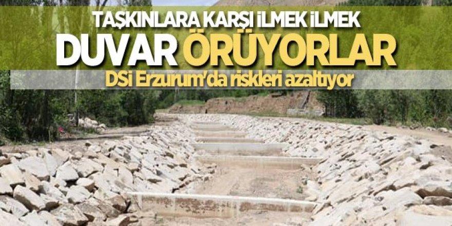 DSİ Erzurum'da taşkın riskini azaltıyor