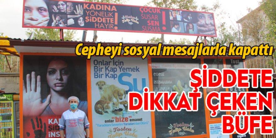 Erzurum'da şiddete dikkat çeken büfe