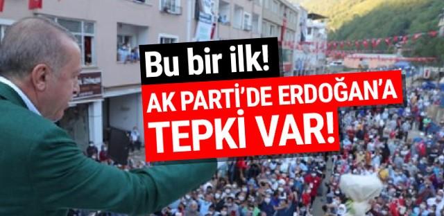 Bu bir ilk! Erdoğan'a AK Parti'den tepki var!
