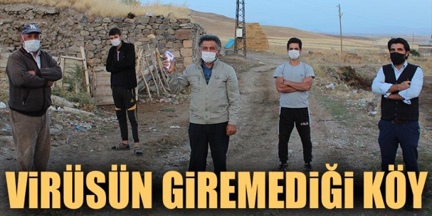 Erzurum'da virüsün giremediği köy