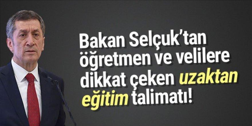 Bakan Selçuk'tan ''EbaTV görüntüsü paylaşmayın'' talimatı