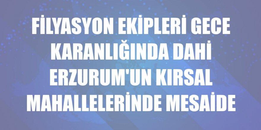 Erzurum'da Filyasyon ekiplerinin zorlu mesaisi