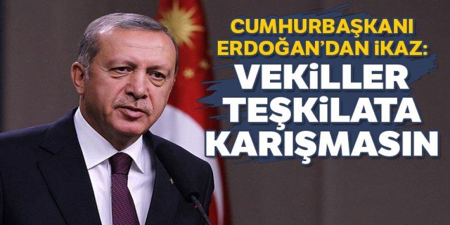 Erdoğan MYK'da uyardı: Vekiller teşkilat işlerine karışmasın