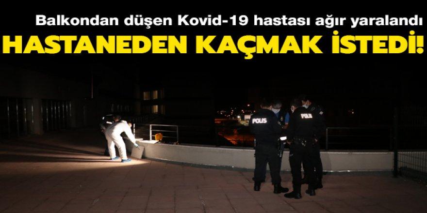 Erzincan'da hastaneden kaçmak isteyen virüslü hasta balkondan düştü