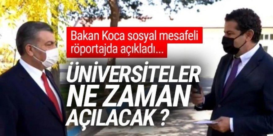 Bakan Koca açıkladı: Üniversiteler ne zaman, nasıl açılacak ?