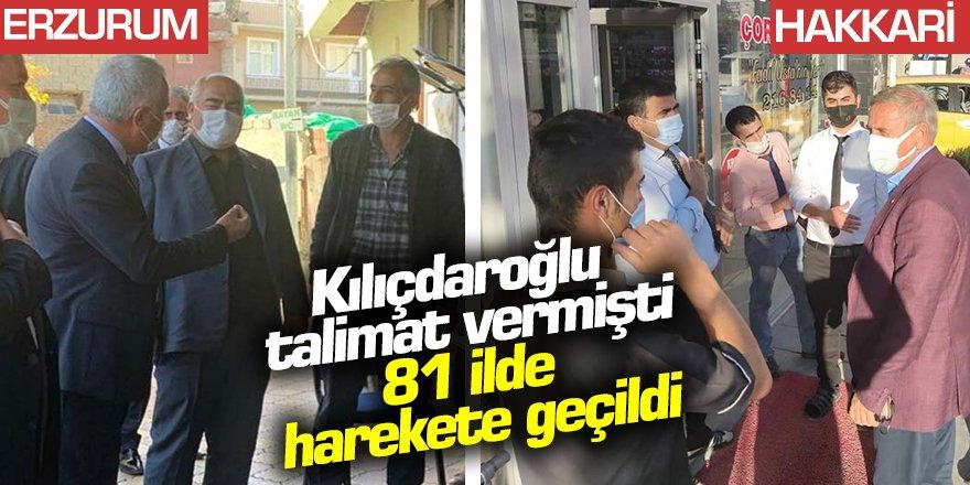 CHP lideri Kılıçdaroğlu talimat vermişti: Vekiller 81 ilde görevde