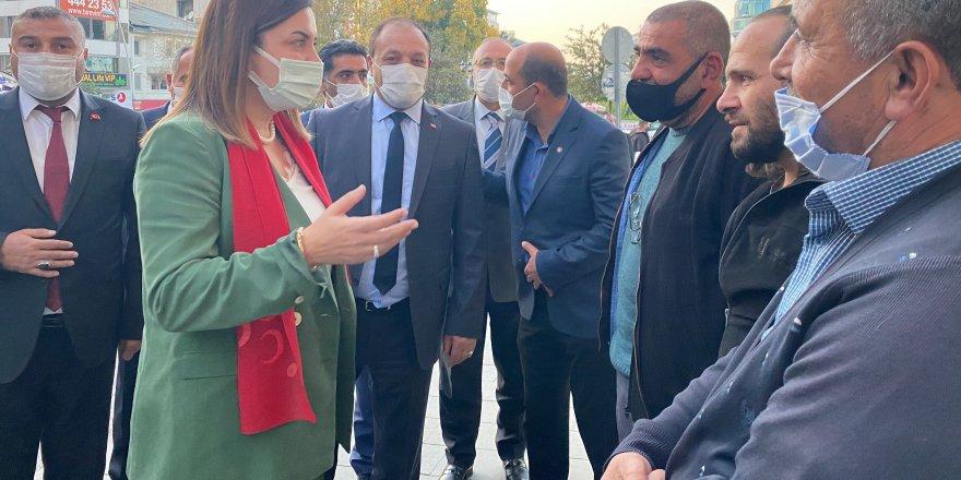 Arzu Erdem Erzurum esnafının sorunlarını dinledi