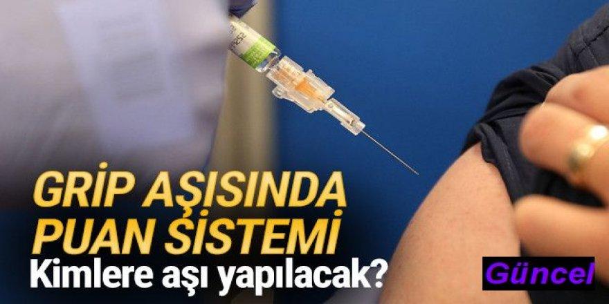 Grip aşısında puan sistemi! Kimlere aşı yapılacak?