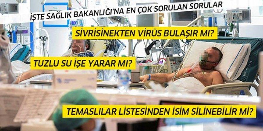 Sağlık Bakanlığı'na koronavirüsle ilgili en çok sorulan sorular