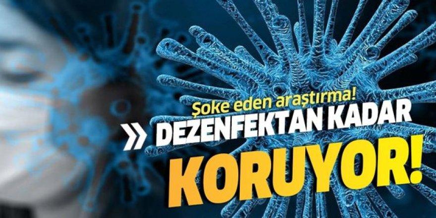 Şoke eden araştırma! Koronavirüsten dezenfektan kadar koruyor!