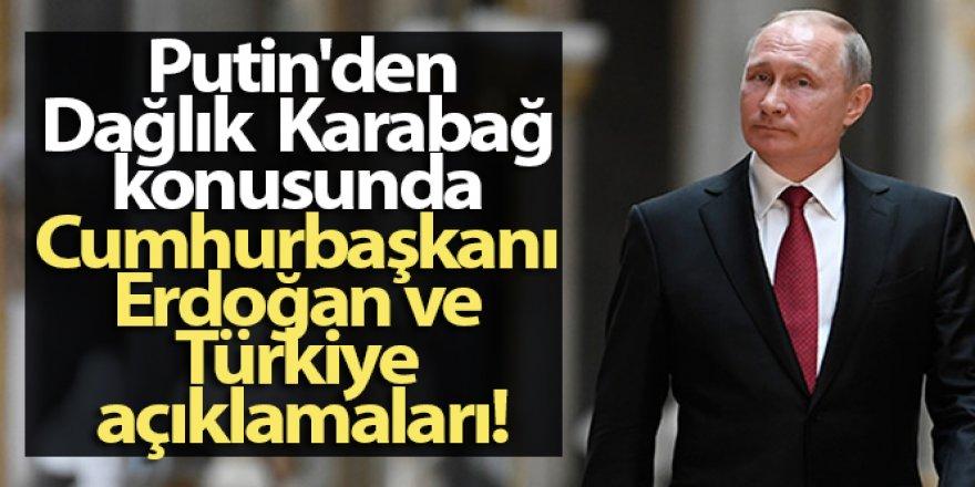 Putin'den, Dağlık Karabağ ve Türkiye açıklamaları