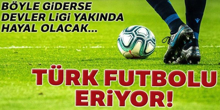 Türk futbolu eriyor