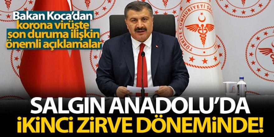 Bakan Koca: 'Salgın Anadolu'da ikinci zirve döneminde'
