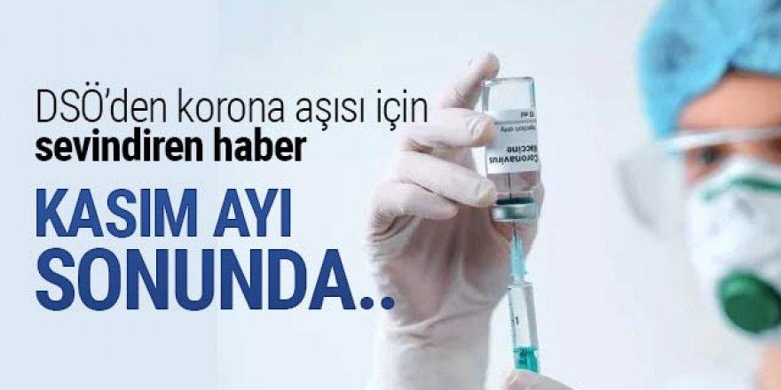 DSÖ'den koronavirüs aşısı için sevindiren haber