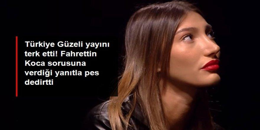 Türkiye Güzeli yayını terk etti