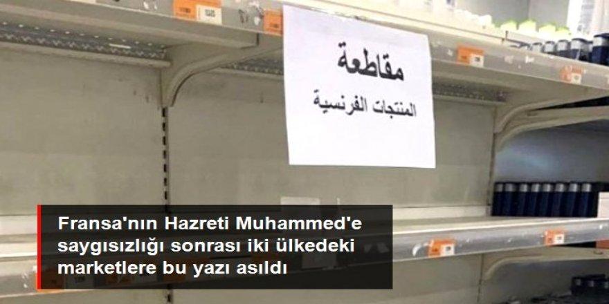Kuveyt ve Katar'da Hazreti Muhammed'e saygısızlık yapan Fransa'nın ürünlerine boykot