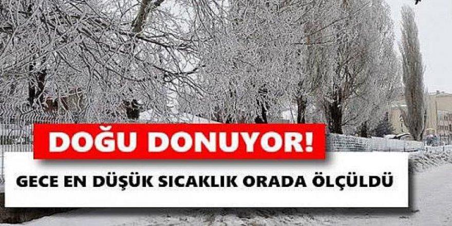 Doğu Anadolu'da hava sıcaklığı gece sıfırın altında 6 dereceye düştü