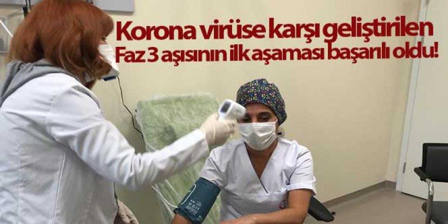 Korona virüse karşı geliştirilen Faz 3 aşısının ilk aşaması başarılı oldu
