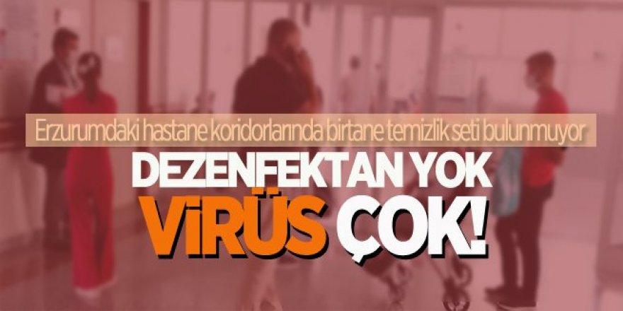 Erzurum'daki hastanelerde dezenfaktan seti yok