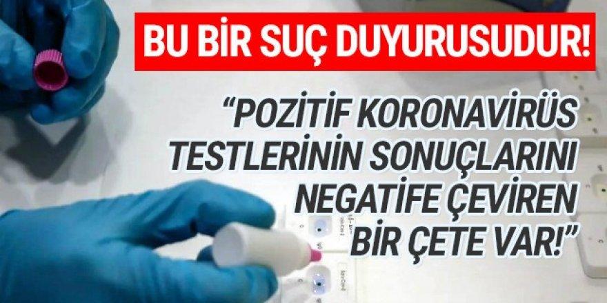 PCR testini pozitiften negatife çevirebilen bir şebeke iddiası!