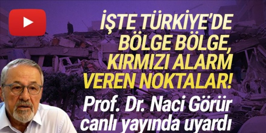 Prof. Dr. Naci Görür, tek tek kırmızı alarm veren illeri açıkladı!