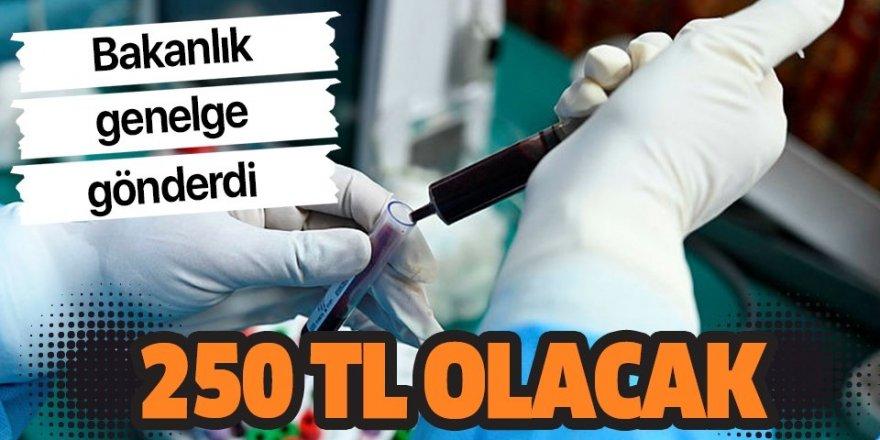 Sağlık Bakanlığı genelge gönderdi: Koronavirüs PCR testi 250 TL olacak