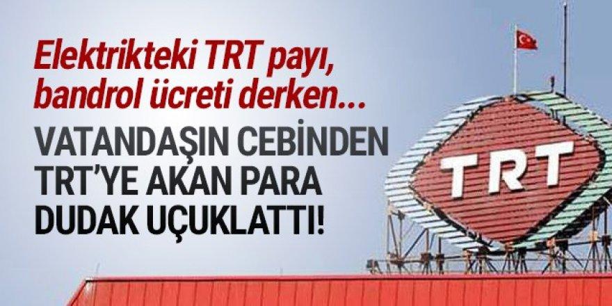 İşte vatandaşın cebinden TRT'nin kasasına giren para!