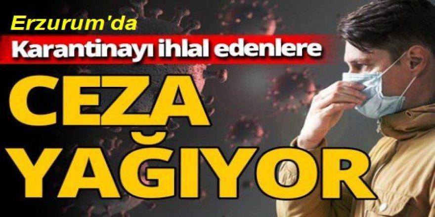 Erzurum'da Kovid-19 karantinasını ihlal edenlere ceza