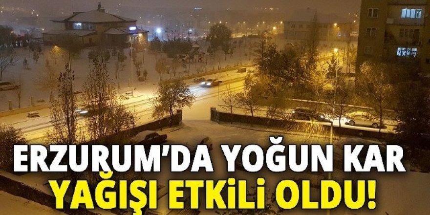 Erzurum'da sürücüler ve yayalar zor anlar yaşadı
