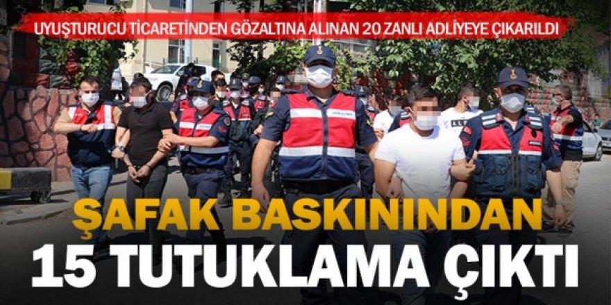 Erzurum'da Uyuşturucu operasyonunda 15 tutuklama