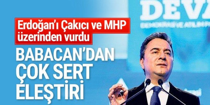 Babacan'dan Erdoğan'a çok sert Çakıcı eleştirisi